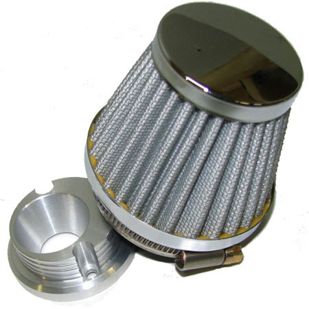 2 stroke 47cc 49cc mini pocket bike Chrome Corne Air Filter Kit