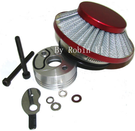 2 Stroke  pocket scooter parts Red UFO Air Filter complete Kit