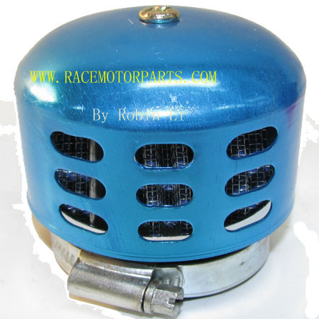 4 stroke ATV Dirt Bike blue Metal Shell 42mm Adapter  Air Filter