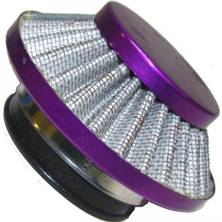 2 stroke pocket bike scooter  44mm adapter purple UFO Air Filter