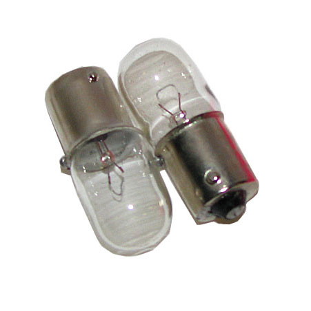 12V 10w long Clear bulb Pair