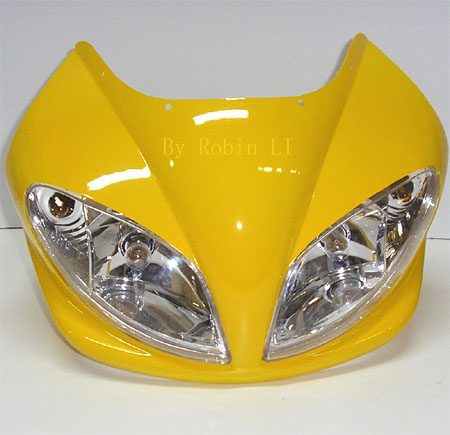 2 stroke 49cc pocket bike Fs509  complete yellow Front Fairing