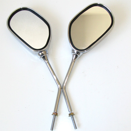 Pocket bike scooter Moped 6mm Thread chorme Mirrors set