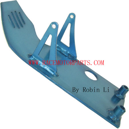 4 stroke dirt bike Blue Aluminum Engine Plate
