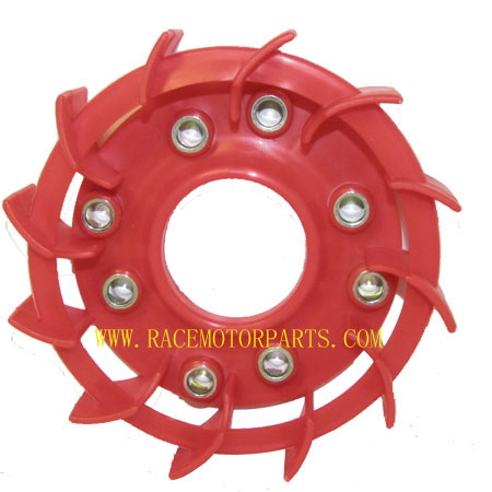 4 stroke 50cc GY6  Moped Red Engine Fan