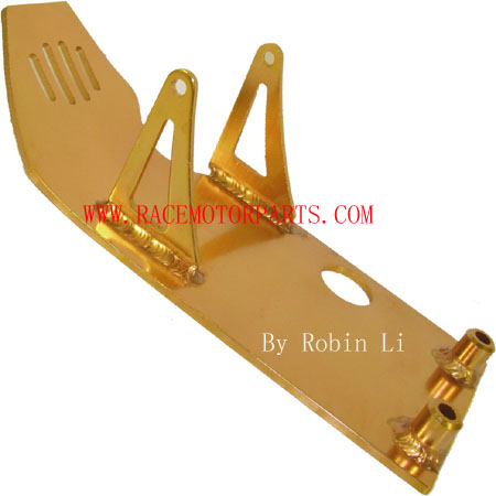 4 stroke dirt bike Gold Aluminum Engine Plate