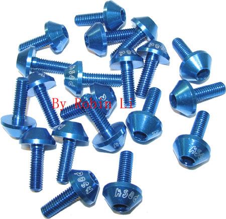Dark Blue Alum Screw package (10 pairs)