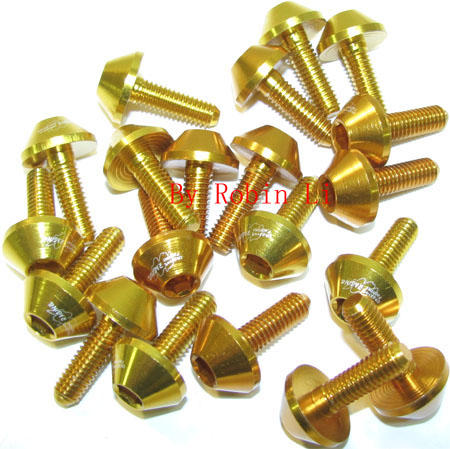 Gold Alum Screw package (10 pairs)