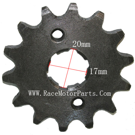 4 stroke 420 chain 17mm /20 mm shaft 14tooth  Driver Sprocket