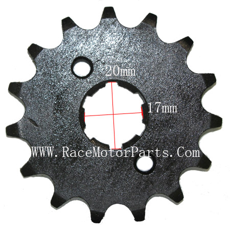 4 stroke 420 chain 17mm /20 mm shaft 15tooth Driver Sprocket