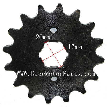 4 stroke 420 chain 17mm /20 mm shaft 16 tooth Driver Sprocket