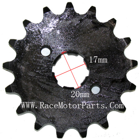 4 stroke 420 chain 17mm /20 mm shaft 17 tooth Driver Sprocket