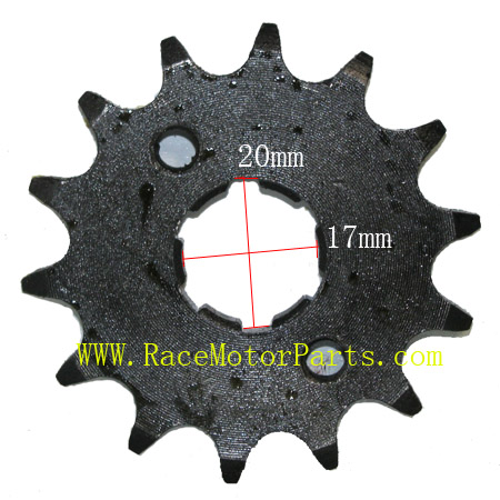 4 stroke 428 chain 17mm /20 mm shaft 14tooth Driver Sprocket