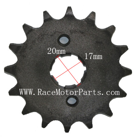 4 stroke 428 chain 17mm /20 mm shaft 16tooth Driver Sprocket