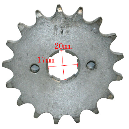 4 stroke 428 chain 17mm /20 mm shaft 17tooth Driver Sprocket