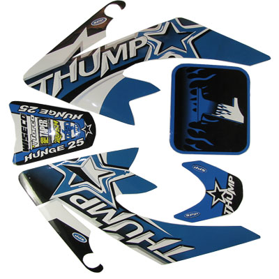 4 stroke Pit bike dirt bike Blue Thump Sticker