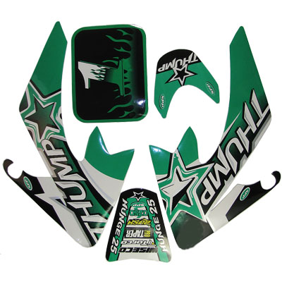 4 stroke Pit bike dirt bike Green Thump Sticker