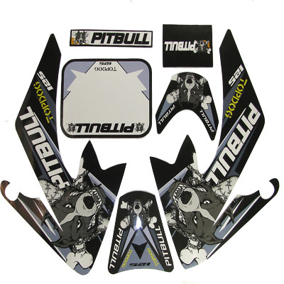 4 stroke Pit bike dirt bike Gray PITBULL Sticker