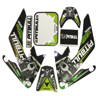 4 stroke Pit bike dirt bike Green PITBULL Sticker