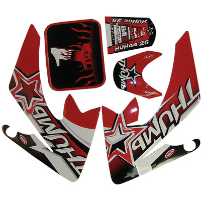 4 stroke Pit bike dirt bike Red Thump Sticker