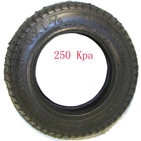 Electric scooter Gas Scooter6 x 1.25 (6 x 1 1/4)  Tire