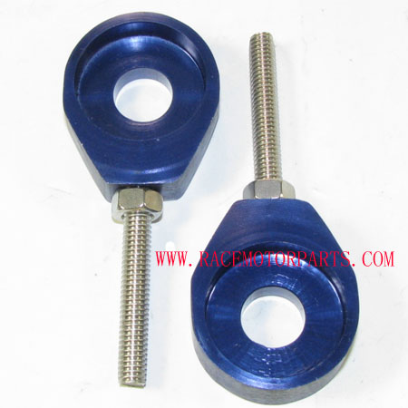 4 stroke Dirt bike Alloy Blue Axle Adjuster set