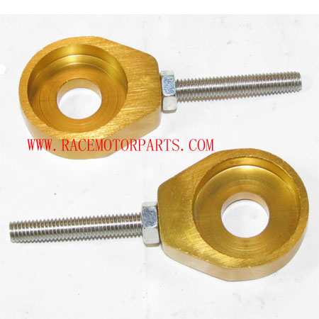 4 stroke Dirt bike Alloy Gold Axle Adjuster set