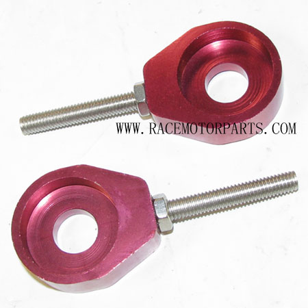4 stroke Dirt bike Alloy Red Axle Adjuster set